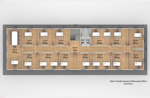 Մոդուլային Գրասենյակային Շենք 588 մ²