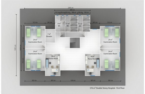 Մոդուլային Հիվանդանոց 576մ²