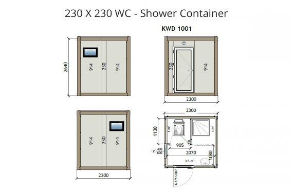 KW2 230X230 Wc - Լոգարան Կոնտեյներ