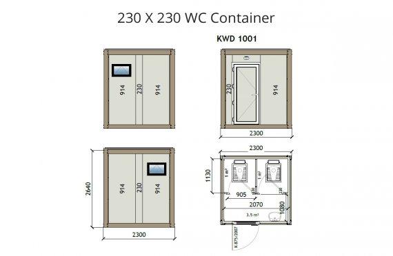 KW2 230X230 WC Կոնտեյներ