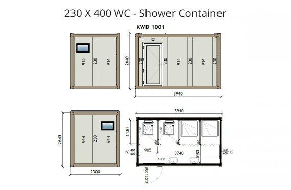 KW4 230X400 WC - Լոգարանային Խցիկ