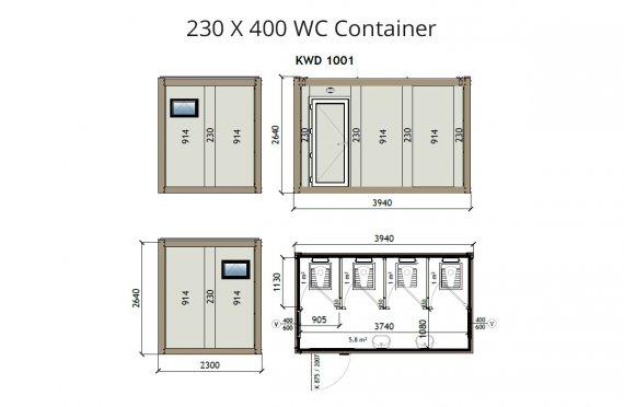 KW4 230X400 WC Կոնտեյներ