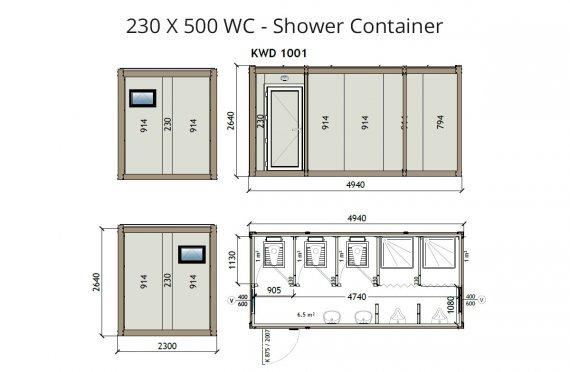 KW6 230X500 WC - Լոգարան Կոնտեյներ