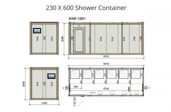 KW6 230X600 Լոգարան Կոնտեյներ