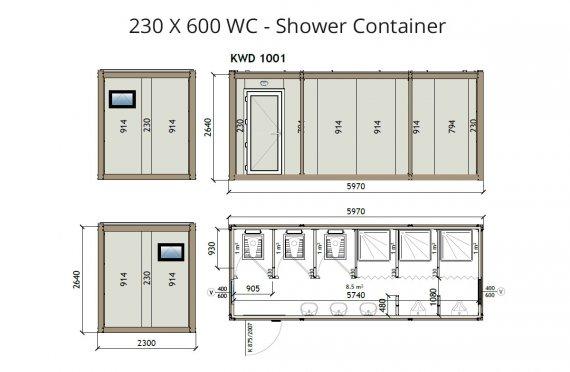 KW6 230X600 WC - Լոգարան Կոնտեյներ
