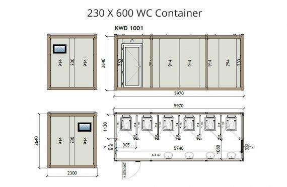 KW6 230X600 WC Կոնտեյներ