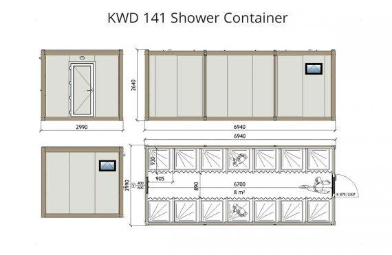 KWD 141 Լոգարան Կոնտեյներ