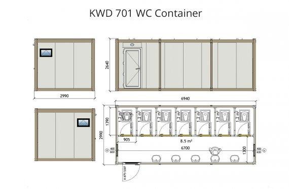 KWD 701 WC Կոնտեյներ