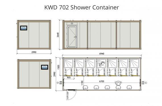 KWD 702 Լոգարան Կոնտեյներ