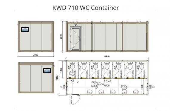 KWD 710 WC Կոնտեյներ