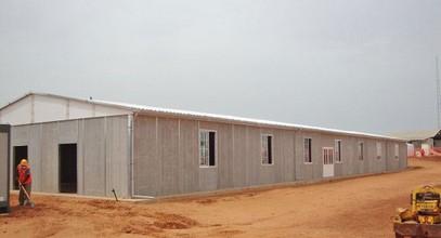 Հանքավայրում բանվորական խցիկների կառուցում Սենեգալում